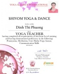 Dinh Thi Phuong 200 hour cert