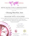 Cheung Man Kin, Ann 500 hours certificate