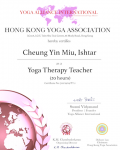 Cheung Yin Miu, Ishtar yoga therapy 20 Level Certificate