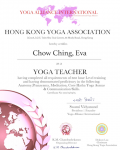 Chow Ching, Eva _200 hours certificate