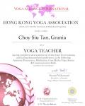 Choy Siu Tan, Grania _200 hours certificate