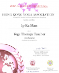 Ip Ka Man yoga therapy 20 Level Certificate