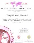 Tung Pui Shan, Florance pregnancy yoga Certificate
