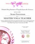 Aram Gorzeman raiwala_500 Level Certificate